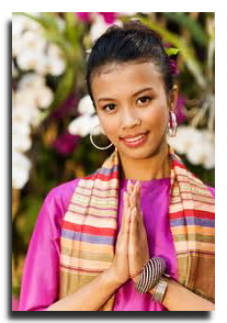 Thai woman greeting